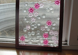 stained glass with beads
