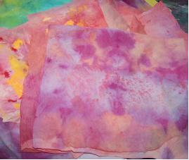 paint on paper towels