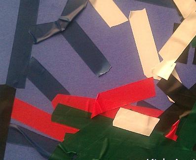 toddler tape art