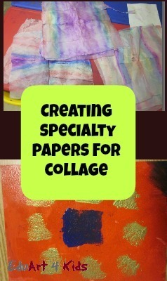 creating specialty papers for collage