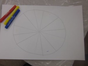 color wheel with marker dots