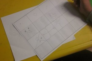 copying shapes into boxes