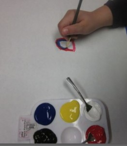 painting with fine brush