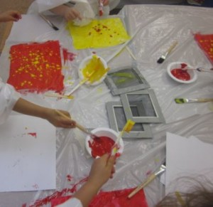painting with screens