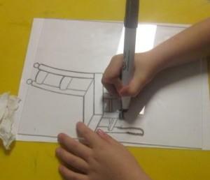 plexiglass on top of chair