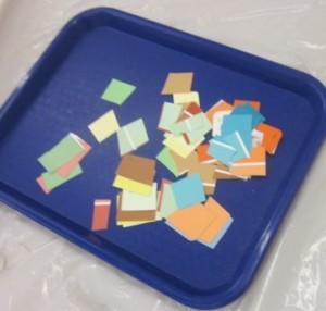cut up paint chips