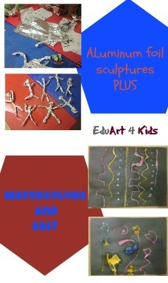 aluminum foil sculptures plus