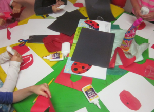 making ladybugs
