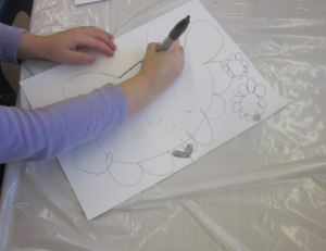 drawing large flowers