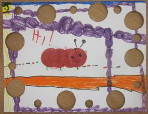 caterpillar with cutouts