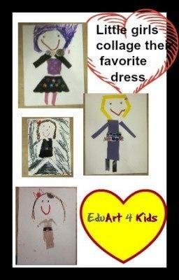 little girls collage their dress