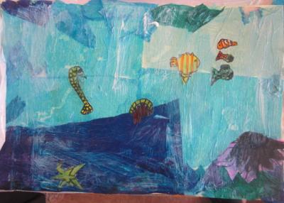 ocean with sea horse