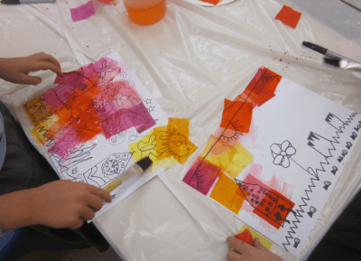 tissue paper painting klee